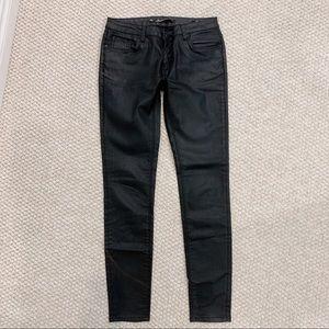 Zara premium skinny jeans in black coating